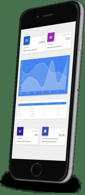 טלפון נייד עם אפליקציה של רואה חשבון